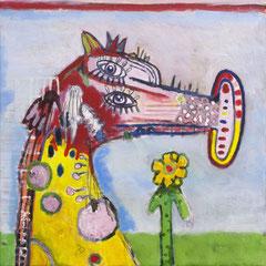 Phulasangamausa, 40 x 40 cm, Acrylfarbe auf Leinwand, 2016 - Thomas Anton Stribick