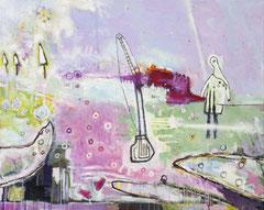 Inspektion des Irrationalen, 100 x 80 cm, Acrylfarbe auf Leinwand, 2012 - Thomas Anton Stribick
