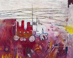 Der poröse Ökonom, 100 x 80 cm, Acrylfarbe auf Leinwand, 2012 - Thomas Anton Stribick