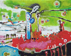 Symphonie, 30 x 24 cm, Acrylfarbe auf Leinwand, 2010 - Thomas Anton Stribick
