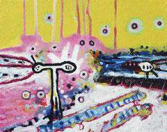 Impuls, 30 x 24 cm, Acrylfarbe auf Leinwand, 2010 - Thomas Anton Stribick