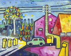 Kraut und Rüben, 30 x 24 cm, Acrylfarbe auf Leinwand, 2011 - Thomas Anton Stribick
