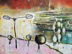 Tag für Tag, 80 x 60 cm, Acrylfarbe auf Leinwand, 2009 - Thomas Anton Stribick