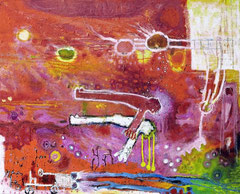 Erwachen der Träume, 100 x 80 cm, Acrylfarbe auf Leinwand, 2011 - Thomas Anton Stribick