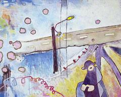 Anmut der Gelassenheit, 150 x 120 cm, Acrylfarbe auf Leinwand, 2013 - Thomas Anton Stribick
