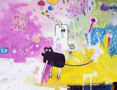 Unverblümte Tatsachen, 130 x 100 cm, Acrylfarbe auf Leinwand, 2013 - Thomas Anton Stribick