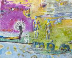 Lass los,  100 x 80 cm, Acrylfarbe auf Leinwand, 2012/2020 - Thomas Anton Stribick