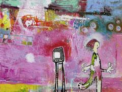 TV, 80 x 60 cm, Acrylfarbe auf Leinwand, 2010 - Thomas Anton Stribick