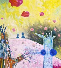Realitätskontrolle, 90 x 100 cm, Acrylfarbe auf Leinwand, 2013 - Thomas Anton Stribick