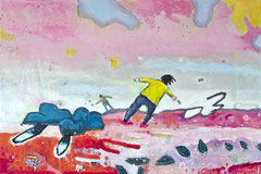 Fangen, 90 x 60 cm, Acrylfarbe auf Leinwand, 2014 - Thomas Anton Stribick