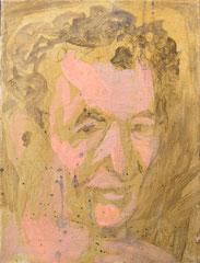 """""""Joe"""", 40 x 30 cm, Eitempera auf Nessel, 1991"""