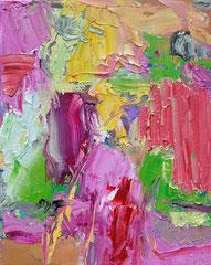 """Fleck 3"", 30 x 28 cm, Öl auf Leinen, 2018"