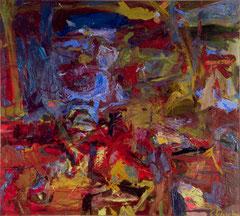 """""""O.T.,"""" 145 x 165 cm, Öl auf Nessel, 1995"""