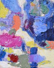 """Fleck 1"", 30 x 28 cm, Öl auf Leinen, 2018"