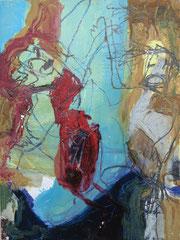 """O.T."", 32 x 24 cm, Öl auf Papier, 1995"