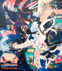 """Mondlandung"", 80 x 70 cm, Öl auf Leinen, 2018"