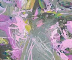 """""""Pink Olive"""", 165 x 195 cm, Öl auf Leinen, 2013"""