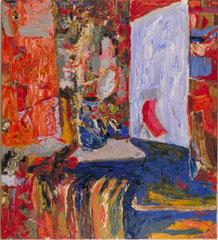 """""""Die Heizung"""", 165 x 145 cm, Öl auf Leinen, 1995"""