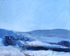 """""""Landschaft 3"""", 24 x 30 cm, Öl auf Leinen, 2007"""