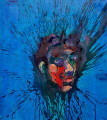 """""""Spritzkopf"""", 80 x 70 cm, Öl auf Nessel, 2014"""