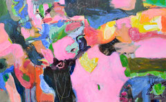 """""""Pinki"""", 100 x 160 cm, Acryl auf Leinen, 2017"""
