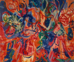 """Florida"", 165 x 145 cm, Eitempera auf Nessel, 1991"