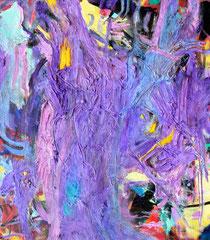 """""""Purple Gum"""", 80 x 70 cm, Öl auf Leinen, 2015"""