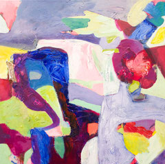 """""""Angelo"""", 80 x 80 cm, Öl auf Leinen, 2018"""
