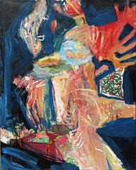 """""""Mit roten Zöpfen"""", 100 x 80 cm, Öl auf Leinen, 2009"""