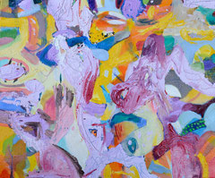"""Hell Hell"", 50 x 60 cm, Öl auf Leinen, 2015"
