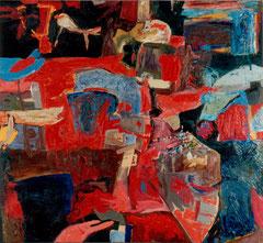 """""""Spielplatz der Renaissance"""", Stilleben, 145 x 165 cm, Öl auf Leinen, 1995"""