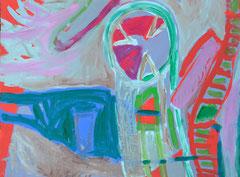 """Mexiko 2"", 50 x 70 cm, Acryl auf Papier, 1992"
