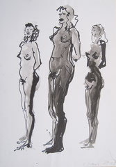 """""""3 Akte"""", Tusche auf Papier, 1991"""