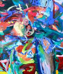 """Entfaltung"", 130 x 110 cm, Öl auf Leinwand, 2014"