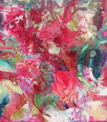 """Pinki Splash"", 130 x 116 cm, Öl auf Leinwand, 2008"