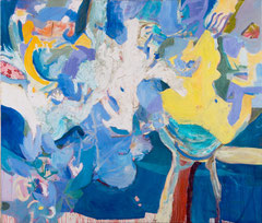 """""""Mit Tobi"""", Übermalung, 153 x 180 cm, Öl auf Leinen, 2006"""