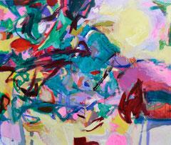 """Supernova 2"", 145 x 165 cm, Öl auf Nessel, 2015"