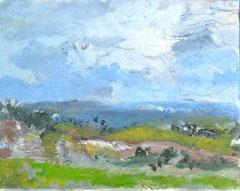 """""""Landschaft 7"""", 24 x 30 cm, Öl auf Leinen, 2009"""