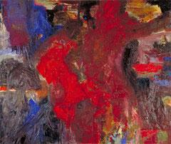 """""""Der Reiter"""", 165 x 195 cm, Öl auf Leinen, 1996"""