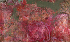 """""""Pink Action"""", 159 x 300 cm, Acryl auf Packpapier, Salzburg 1993"""