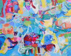 """""""Water, Water everywere"""", 80 x 100 cm, Öl auf Leinen, 2015"""