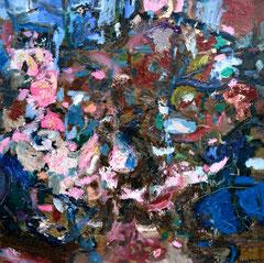 """""""Mystery Forest"""", 100 x 100 cm, Öl auf Nessel, 2017"""