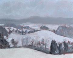 """""""Landschaft 5"""", 24 x 30 cm, Öl auf Leinen, 2007"""
