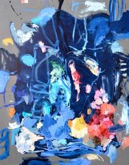 """Blue Heron 6"", 180 x 150 cm, Öl auf Nessel, 2016"