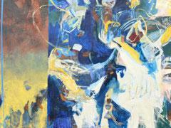 """""""Kleiner Prinz"""", 220 x 280 cm, Öl auf Nessel, 2008"""
