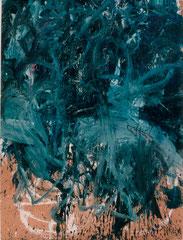 """O.T."", 210 x 159 cm, Acryl auf Packpapier, 1995"