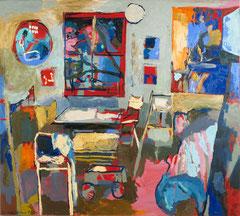 """""""Atelier II"""", 145 x 165 cm, Öl auf Leinwand, 1995"""