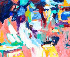 """Pink Pantha 4"", 145 x 165 cm, Öl auf Nessel, 2015"