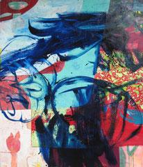 """""""Kombination I"""", 179 x 149 cm, Öl auf Leinwand, 2013"""