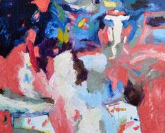 """Pink Pantha 3"", 145 x 165 cm, Öl auf Nessel, 2015"